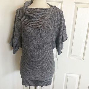 NWT Grass Collection Gray Sweater Tunic